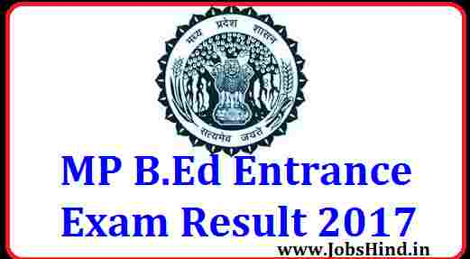 MP B.Ed Entrance Exam Result