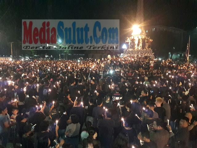 Hebat...!!! Aksi Sejuta Lilin Untuk Ahok Di Bitung Terjadi Secara Spontanitas