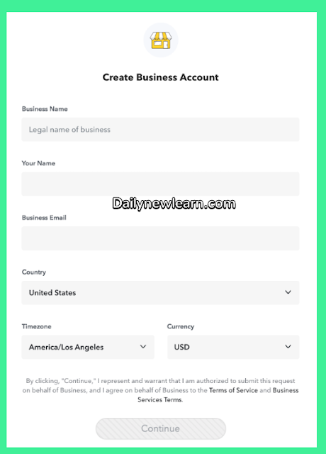 How To Create Account In Snapchat ( Business Account ) - Snapchat Login