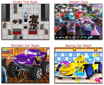 juegos de aventuras, carreras, lavar y limpiar autos y mucho más con los personajes de la pelicula de cars de disney
