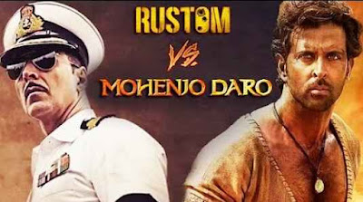 Rustom Vs Mohenjo Daro 1st, 2nd, 3rd Total Box Office Collection, Business Income