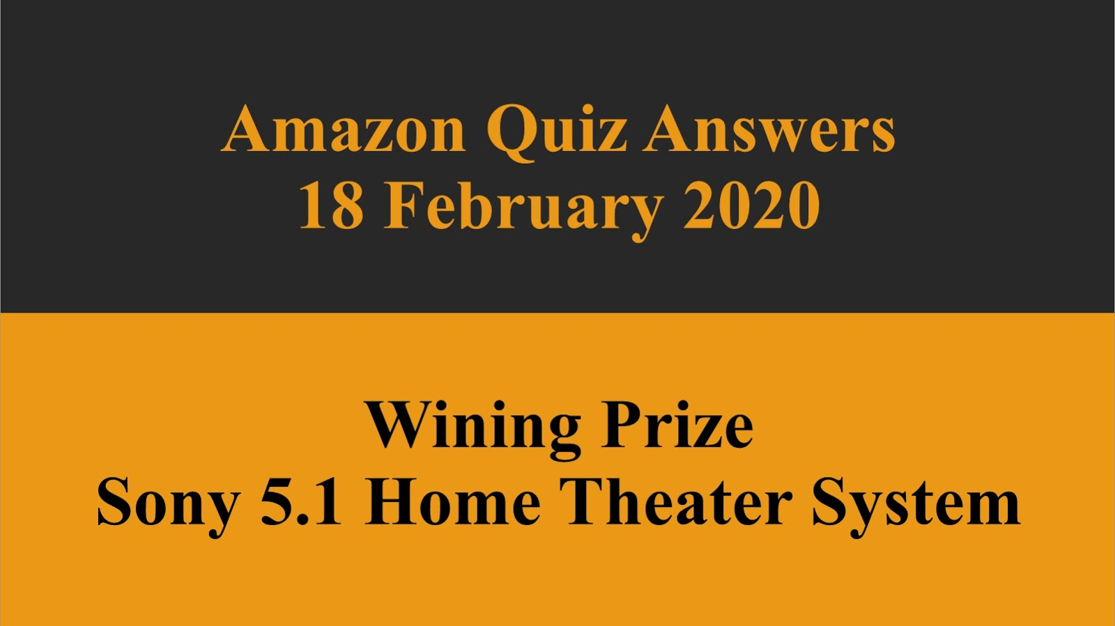 Amazon Daily Quiz Answers 18 February 2020