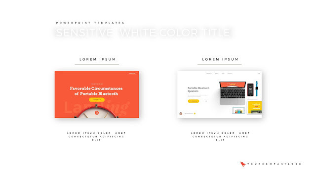 2 Image Placeholder of Premium PowerPoint Template with Whit Title