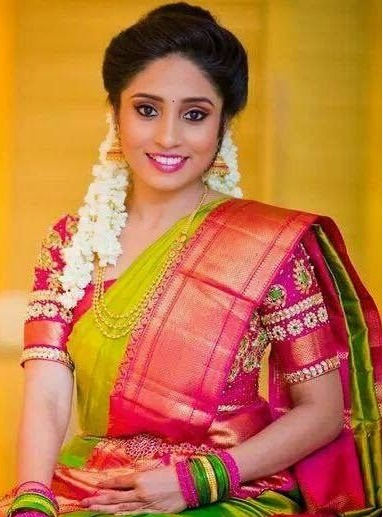 Marvelous South Indian Bridal Makeup Hairstyles Style4U Short Hairstyles For Black Women Fulllsitofus