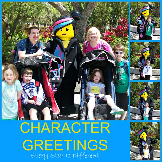 Character greetings at LEGOLAND