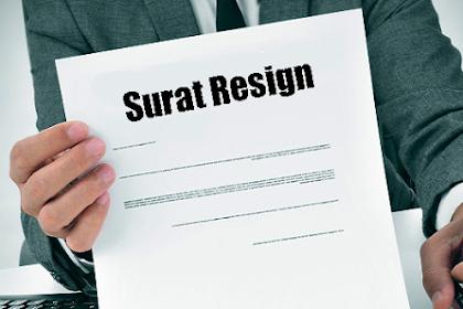Download Contoh Surat Pengunduran Diri Berhenti Kerja (Resign)