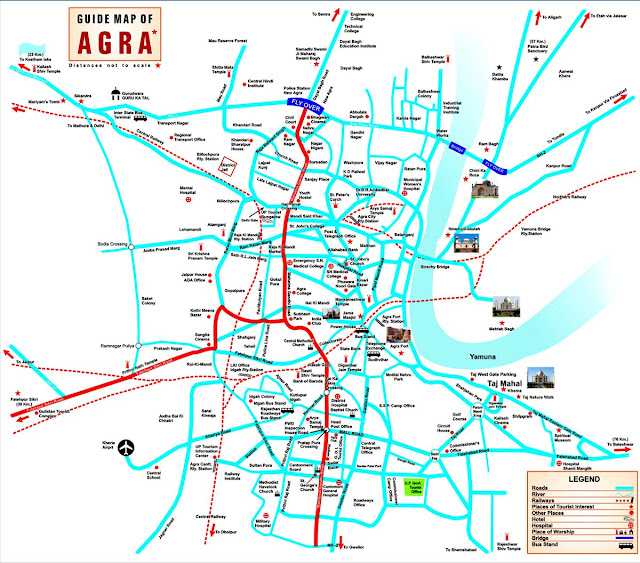 Map of Agra