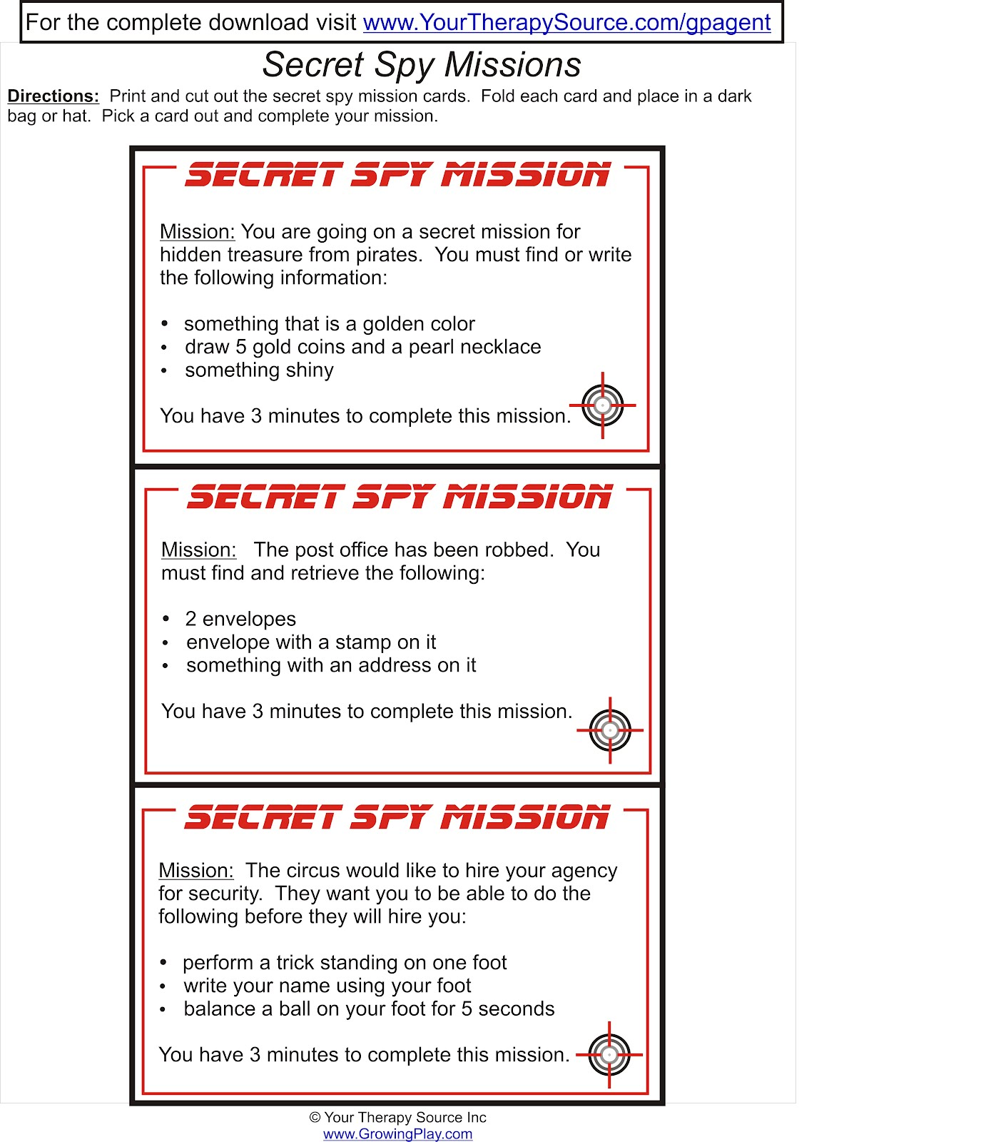 Growing Play Free Secret Missions For Pretend Play