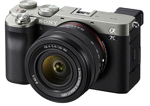 Sony A7C, серебристый с черным