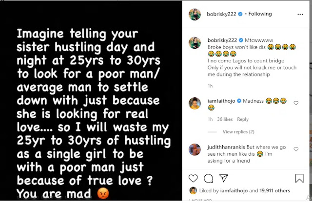I did not come to Lagos to count bridge only if you will not knack me- Bobrisky slams Broke men who are texting him on Instagram