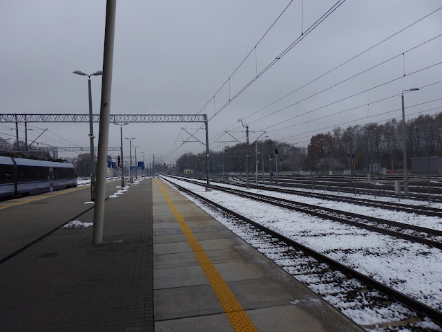 Śnieżny dworzec Łódź Widzew.