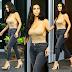 Kim Kardashian katinga jibrauzi akiwa na Dada yake  maeneo ya Miami