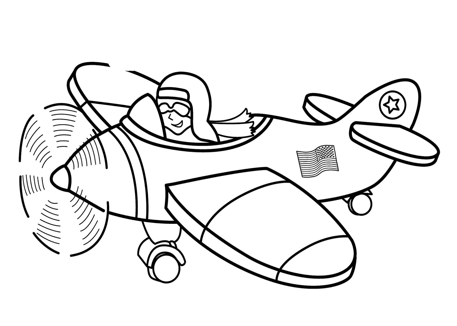 Pilot Hat Coloring Page Coloring Pages