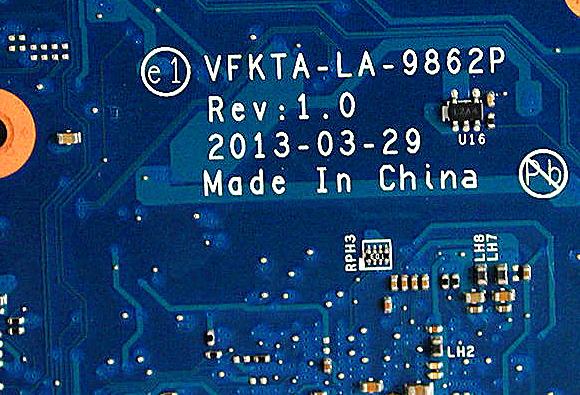 LA-9862P REV 1.0 UH3 TOSHIBA L40A Laptop Bios
