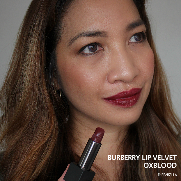burberry lip velvet oxblood