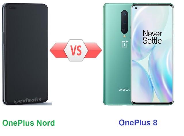 OnePlus Nord vs OnePlus 8: Comparison