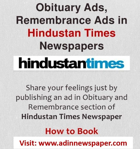 Best Newspaper Advertising Agency In India: Book Obituary