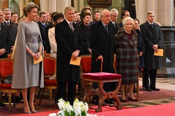 King Philippe, Queen Mathilde, King Albert and Queen Paola attended a Eucharist mass at at the Church of Our Lady