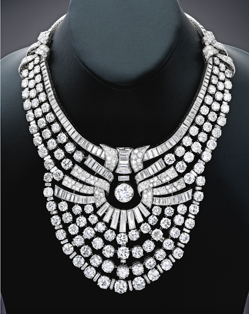 Platinum Necklace studded with Solitaires Auctioned for Over $4 Million!