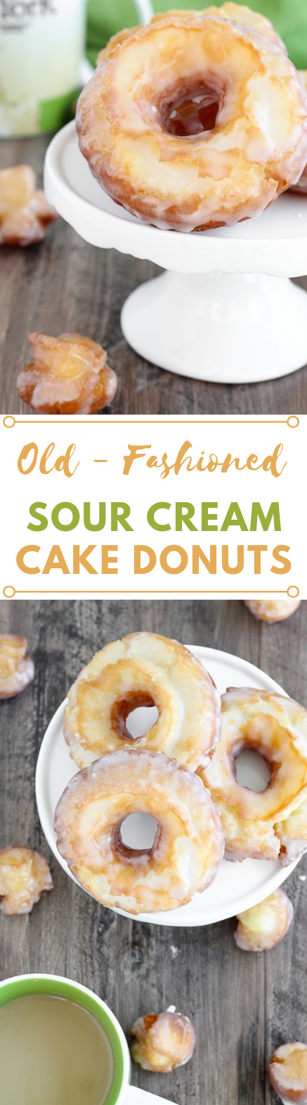 OLD FASHIONED SOUR CREAM CAKE DONUTS #donuts #cakes #desserts #sugar #pumpkin