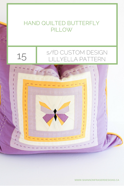 Hand Quilted Butterfly Pillow by Shannon Fraser Designs