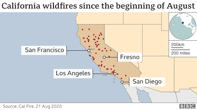 Map of Cal Fire
