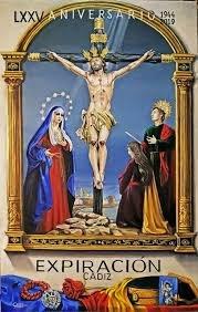 Santísimo Cristo de la Expiración  de Cádiz procesionarán el Cristo, la Virgen de la Victoria y San Juan en su Extraordinaria