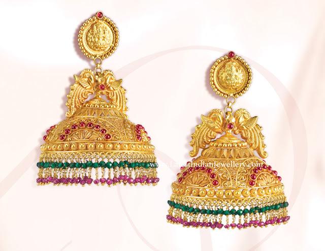 GRT Gold Jhumkas