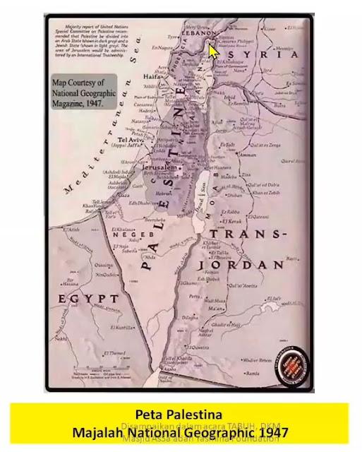 Peta Palestina pada 1947