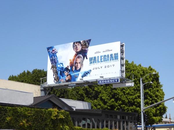 Valerian movie cut out billboard