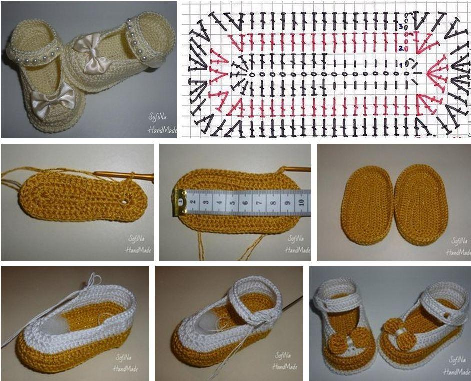 Cómo tejer zapatos de bebe con crochet / DIY | Paso a Paso