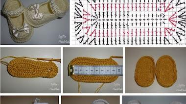 Cómo tejer zapatos de bebe con crochet / DIY