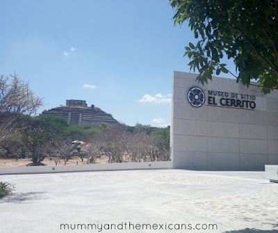 Days Out In Querétaro - The Pyramid Of El Pueblito - Image Shows Museum Entrance With Pyramid In The Background