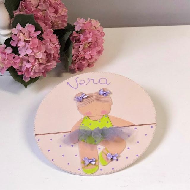 placa puerta infantil personalizada ballet