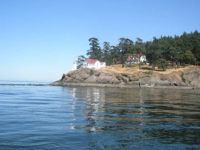 Stuart Island State Park Lighthouse and Museum are one hour walk from Prevost or Reid Harbors