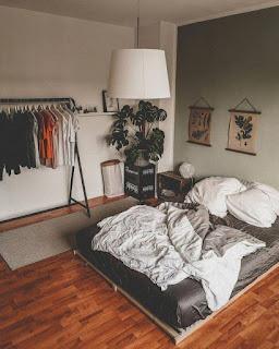 Dekorasi kamar Tidur Cowok Sederhana