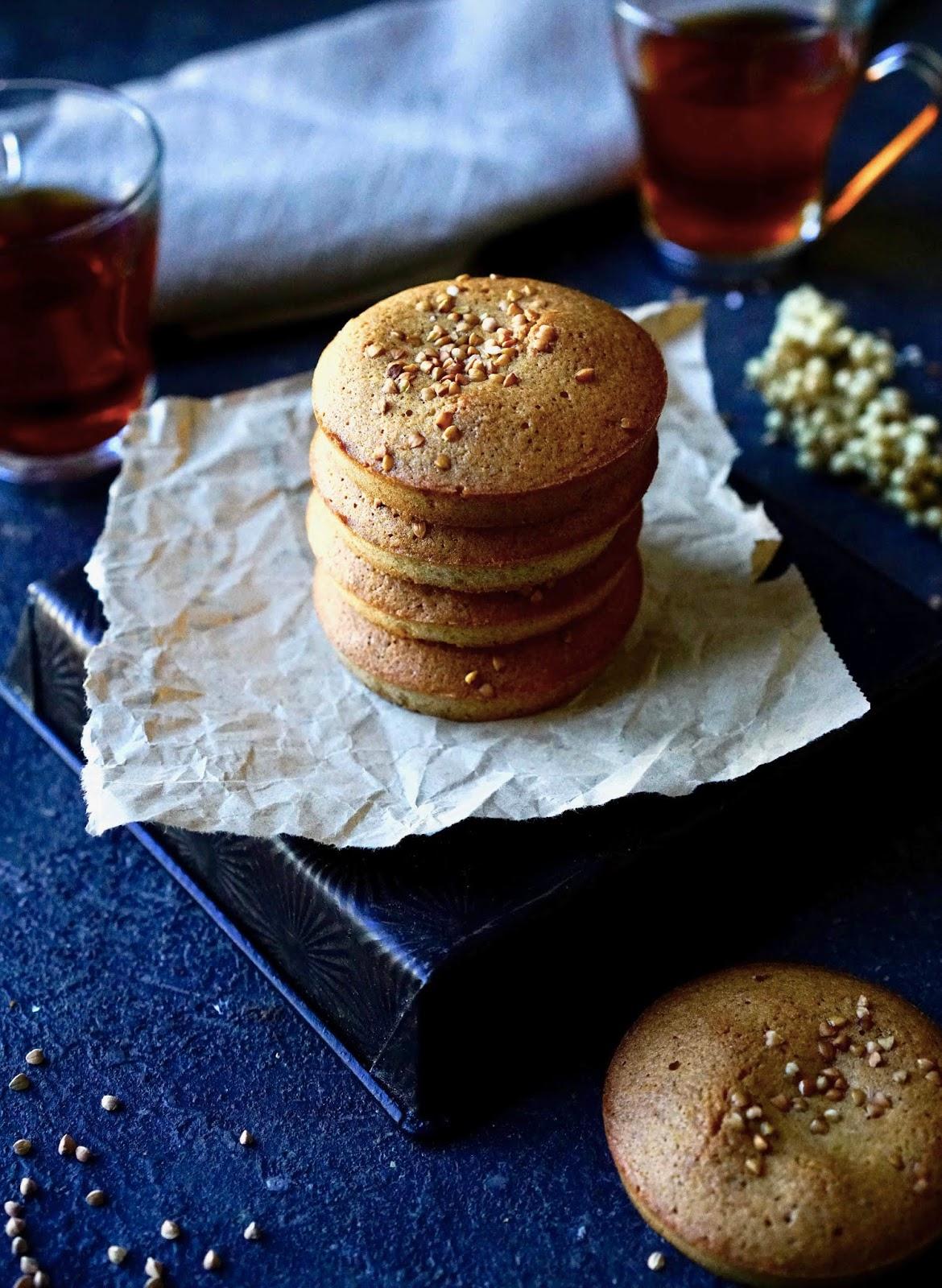 recette sucrée au sarrasin , farine de sarrasin , poudre d'amandes