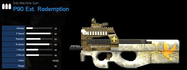 Detail Statistik P90 Ext. Redemption
