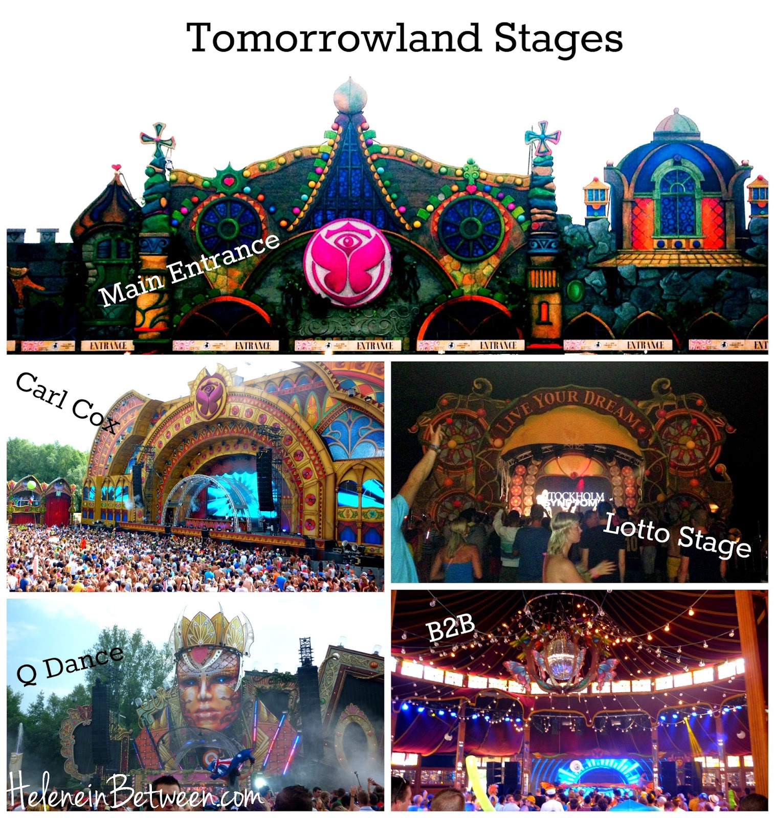 Tomorrowland 2014 stages