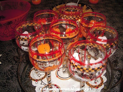 Margaret's Morsels | Halloween Fake Blood Rimmed Drinking Glasses