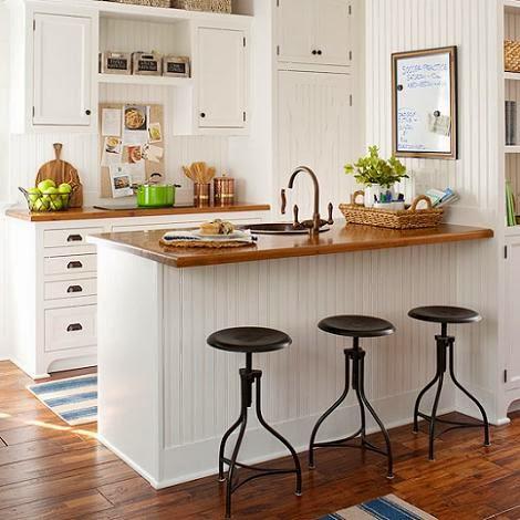 Recortes decorados puro blanco cocinas - Encimeras madera cocina ...