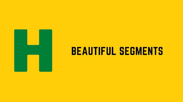 HackerRank Beautiful Segments problem solution