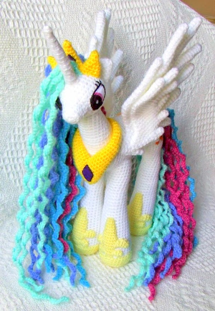 Princess Celestia My Little Pony Crochet Pattern