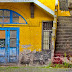 colors in an old Funchal building
