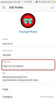 Cara Memasang Link Whatsapp di Bio Instagram-6