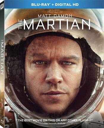Poster of The Martian (2015) Dual Audio Hindi Movie 720p HD Free Download
