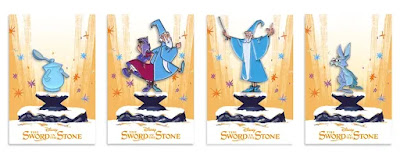 The Sword In The Stone Enamel Pins by Oliver Barrett x Mondo x Disney
