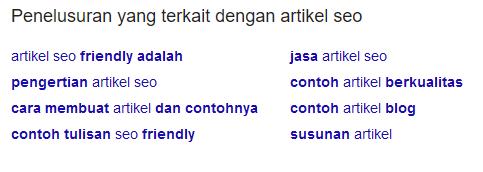 Alternatif pencarian keyword