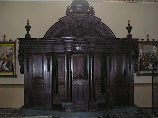 Confessional in the church of Sint Elisabethskerk Grave, Nederlands By Vincent de Groot
