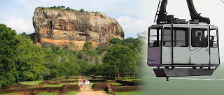 Electric elevators, cable car service at Sigiriya Fortress